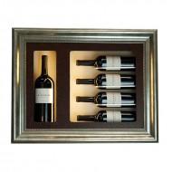 Cuadro Expositor Pared 4 Marcas vino y un Magnum. LED |ZCV5010