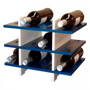 Estantería Botellero - Home Style - en madera de 5 colores para 12 botellas. Medidas: 31/39/28 cm fondo