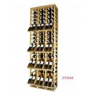 Botellero Estantería Profesional EX2164 para 120 botellas y expositor de marcas. Alto 210/68/32-42 cm fondo.