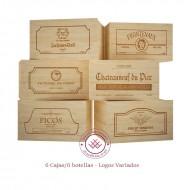 Lote 6 cajas/6 botellas Logos variados|GR1606