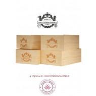 Cajas de vino 12 botellas en Madera Rustica Personalizadas - Medidas: alto 19/35/54 cm fondo.