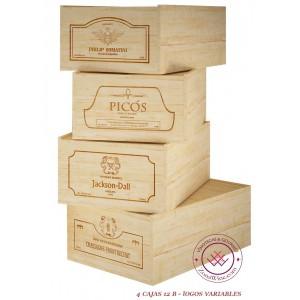 Lote 4 cajas de madera para...