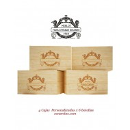 Cajas de Vino 6 botellas en Madera rustica Personalizadas|GR0404