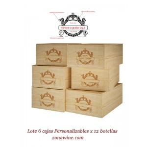 Cajas de vino en Madera...