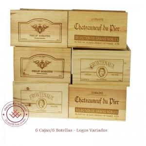 Set de 6 Cajas de vino en...