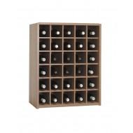 Botellero moderno con 30 Nidos para botellas | Serie Malbec