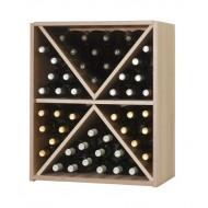 Botellero Seis Picos Serie Malbec  hasta 48 botellas. Alto 72x60x34