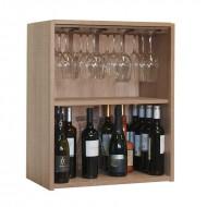 Botellero hasta 32 botellas con soporte para Copas |Serie Malbec