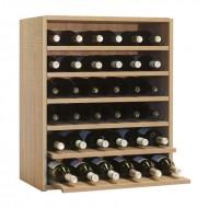 Botellero Seis Baldas de 6 botellas Serie Malbec . Alto 72x60x34