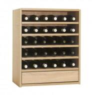 Estantería de vino con baldas para 30 botellas y cajón de accesorios|Serie Malbec