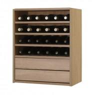 Organizador de vino baldas y cajones para accesorios|Serie Malbec