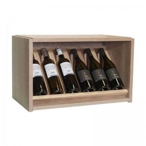 Pequeño Expositor 6 Botellas Serie Malbec. Alto 36x60x34
