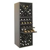 Botellero modular tipo estantería para 48 vinos|BL6320 Serie Merlot