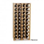 Botellero original combinado pino y blanco 40 botellas|PW2034
