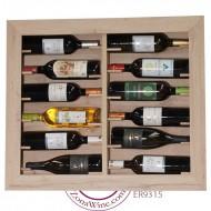 Botellero expositor pared 12 botellas de vino o cava ER9315