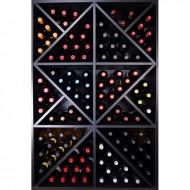 Armario Botellero Negro con divisiones interiores 124 Botellas EX8140