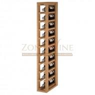 Botellero modular 1 x 10 en madera de pino o roble. Serie Godello de 10 a 60 botellas