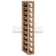 Botellero modular para 10 botellas de vino en madera de pino teñido color roble - foto 2
