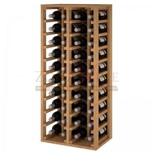 Botellero modular para 40 botellas de vino en madera de pino teñido color roble - foto 1