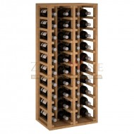Botellero modular para 40 botellas de vino en madera de pino teñido color roble - foto 2
