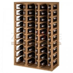Botellero modular para 60 botellas de vino en madera de pino teñido color roble - foto 1