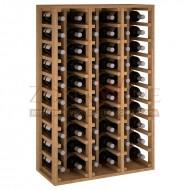 Botellero modular para 60 botellas de vino en madera de pino teñido color roble - foto 2