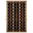 Botellero modular para 60 botellas de vino en madera de pino teñido color roble - foto 3