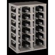 Botellero en madera de Pino pintada Blanca-24 Botellas |65/46/32 cm fondo