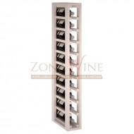 Botellero modular Blanco 1 x 10 en madera de pino Serie Godello EW2031