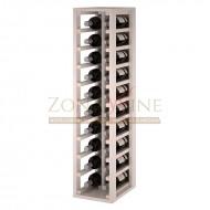 Botellero modular para 20 botellas de vino en madera de pino pintado en blanco - foto 1