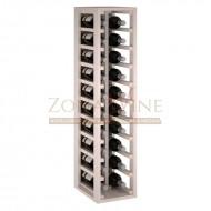 Botellero modular Blanco 2 x 10 en pino de 10 a 60 botellas|EW2032