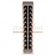 Botellero modular para 20 botellas de vino en madera de pino pintado en blanco - foto 3