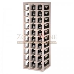 Botellero modular para 30 botellas de vino en madera de pino pintado en blanco - foto 1