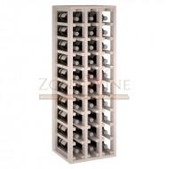 Botellero modular para 30 botellas de vino en madera de pino pintado en blanco - foto 2