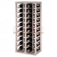 Botellero modular para 40 botellas de vino en madera de pino pintado en blanco - foto 1