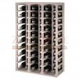 Botellero modular para 60 botellas de vino en madera de pino pintado en blanco - foto 1