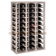 Botellero modular Blanco 6 x 10 en  pino Godello de 10 a 60 botellas|EW2060