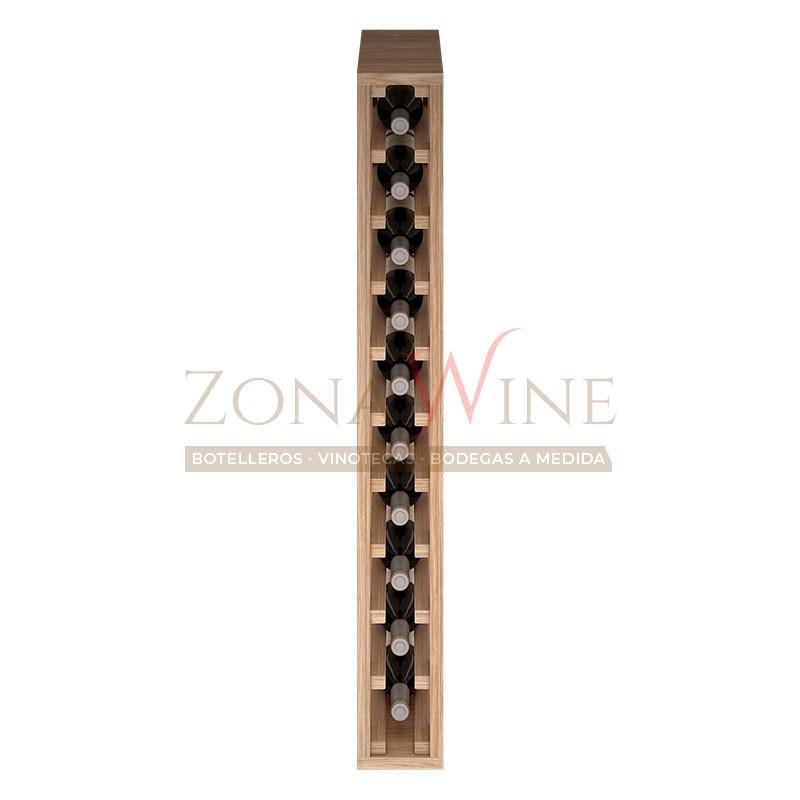 Botellero modular para 10 botellas de vino en madera maciza de roble - foto 3