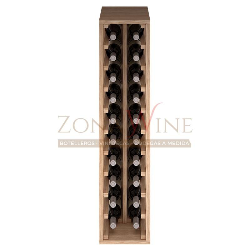 Botellero modular para 20 botellas de vino en madera maciza de roble - foto 3