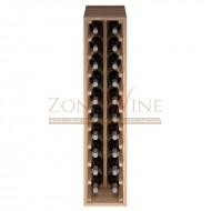 Botellero modular Godello 2 x 10 en roble de 10 a 60 botellas ER2032