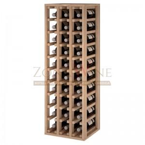 Botellero modular para 30 botellas de vino en madera maciza de roble - foto 1