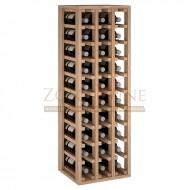 Botellero modular para 30 botellas de vino en madera maciza de roble - foto 2
