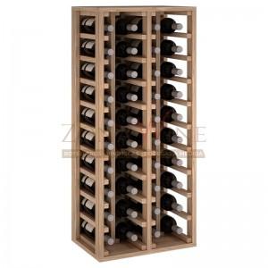 Botellero modular para 40 botellas de vino en madera maciza de roble - foto 2