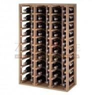 Botellero modular para 60 botellas de vino en madera maciza de roble - foto 1