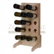 Botellero de madera para 15 botellas de vino o cava