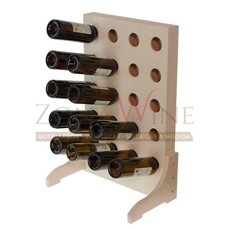 Botellero de madera para 20 botellas de vino o cava