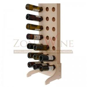 Botellero de madera para 21 botellas de vino o cava