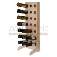 Botellero de madera para 21 botellas de vino o cava en color blanco