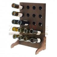Botellero vino para 20 botellas en madera color nogal