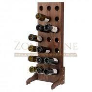 Botellero vino para 21 botellas en madera color nogal